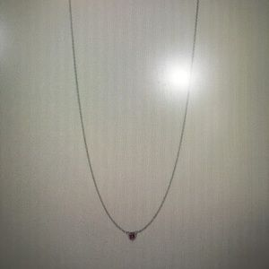Tiffany pink sapphire elsa peretti necklace