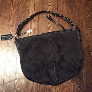 Coach Black Monogram Hobo Bag