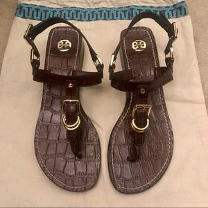 EUC Authentic Tory Burch Brown Sandals Size 7