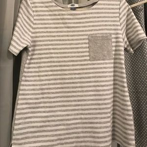 Stripped pocket tee