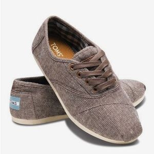 TOMS Brown Metallic Woven Cordones