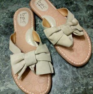 Cream Leather Born Sandals