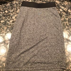 Heather grey jersey fabric skirt
