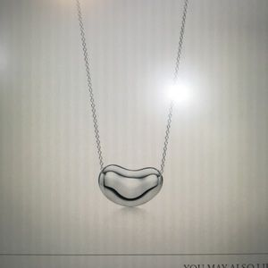 Tiffany silver bean necklace