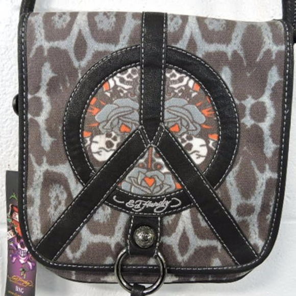 302a7d491fb Ed Hardy Bags   Preston Peace Sign Skull Bag   Poshmark