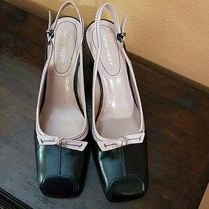Nine West(Nence) Leather Sling-back Heels