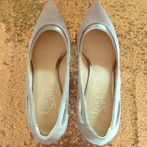 Gorgeous gray with silver Franco Sarto heels!