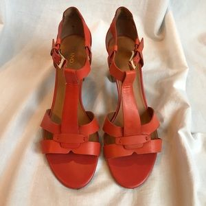 Franco Sarto Orange Sandal Heels