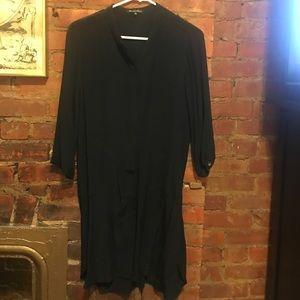 Black crepe madewell dress