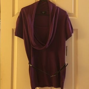 NWT plum sweater with belt by AGB