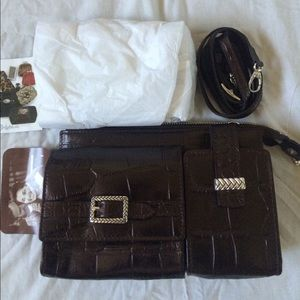 Brighton Crossbody mini purse organizer bag New