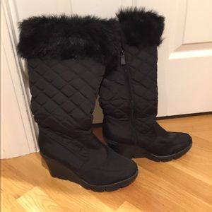 Quilted winter boots