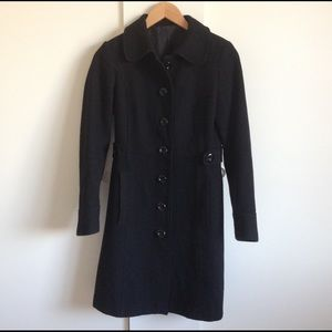 H&M Wool-Blend Black Coat