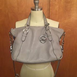 Light gray Michael Kors cross body purse