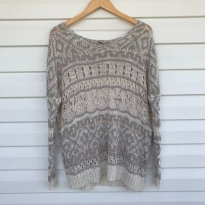 Free People Loose Knit Pullover Sweater
