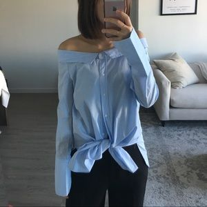Zara over the shoulder top size small
