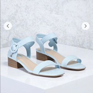 ✨NWOT Light Blue Faux Suede Sandals✨