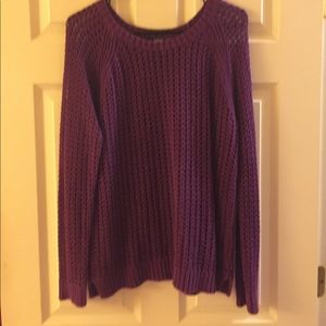 Pretty plum colored sweater by a.n.a.