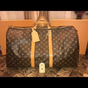 Louis Vuitton keepall 55 Monogram Authentic duffle