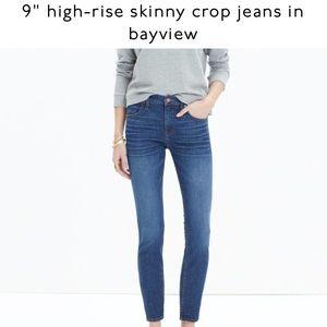 """Madewell skinny crops Bayvhew 9"""" rise jeans"""