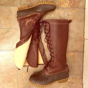 L.L. Bean Shearling Knee High Bean Boots