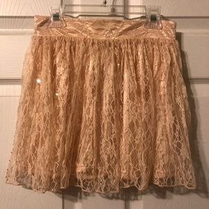 Forever 21 Light Pink Lace Skirt