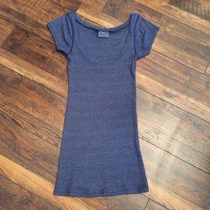 Dark Blue Sparkle Scoop Neck Sweater