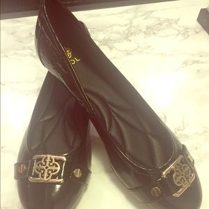 NWOT Isola Black Patent Leather Flats