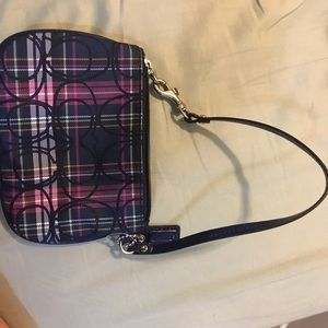 Coach small wristlet purse with strap