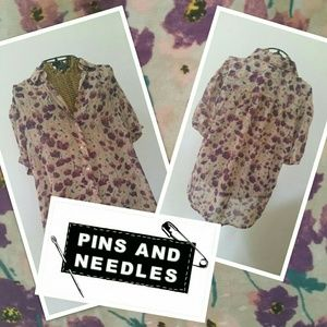 PINS AND NEEDLES floral blouse L