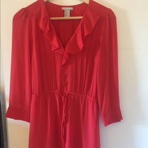 Red dress size 4 H&M never worn