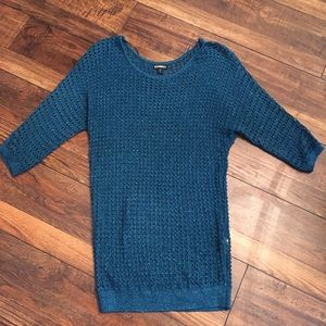 Turquoise Silver Express Oversize Sweater Tunic