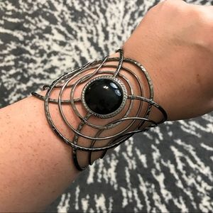 Black and Pewter Cuff Bracelet