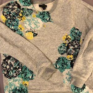 Jcrew floral sweatshirt