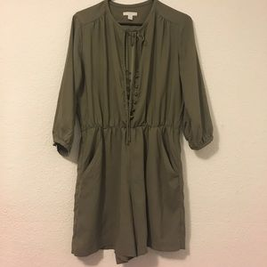 Olive green one piece jump suit