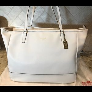 Coach Saffiano East West Leather Tote