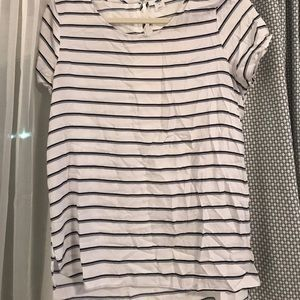 Striped flowy top