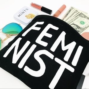 🆕 | 'FEMINIST' MAKEUP BAG/POUCH |