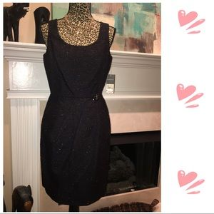 Sophisticated black dress with a hint of shimmer