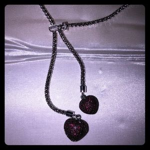 Kay Sterling Silver ❤️❤️ Necklace Lab Created Ruby