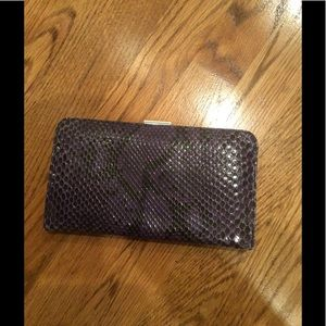Coach black and purple clutch