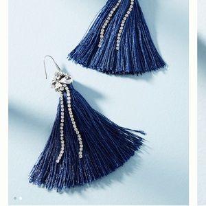 Anthro sparkle tassel drop earrings