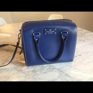 Royal Blue Kate Spade bucket bag