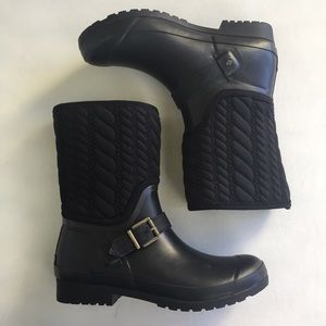Quilted Sperry Rainboot