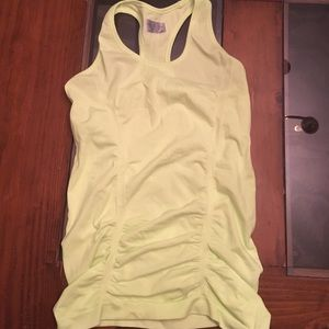 NEW Athleta size XS neon yellow athletic tank top