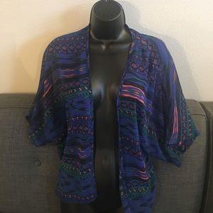 Fun Tribal Print Kimono
