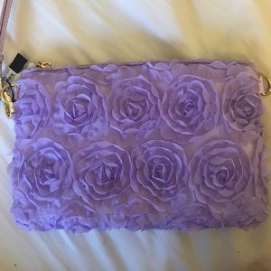 Floral purple clutch