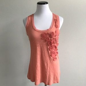 LC Lauren Conrad orange rose tank