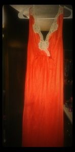 Vintage lingerie long nightgown