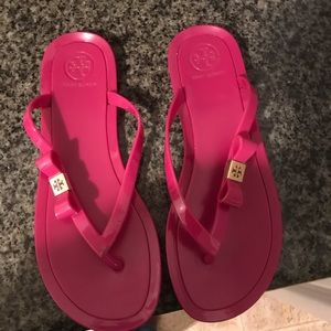Pink /gold Tory Burch Jelly Sandals (no box)